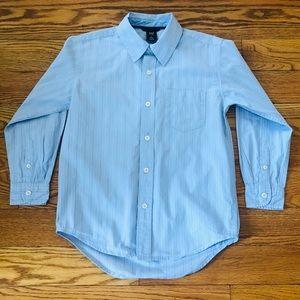 Gap Kids Blue Striped Boys Button-Down Dress Shirt